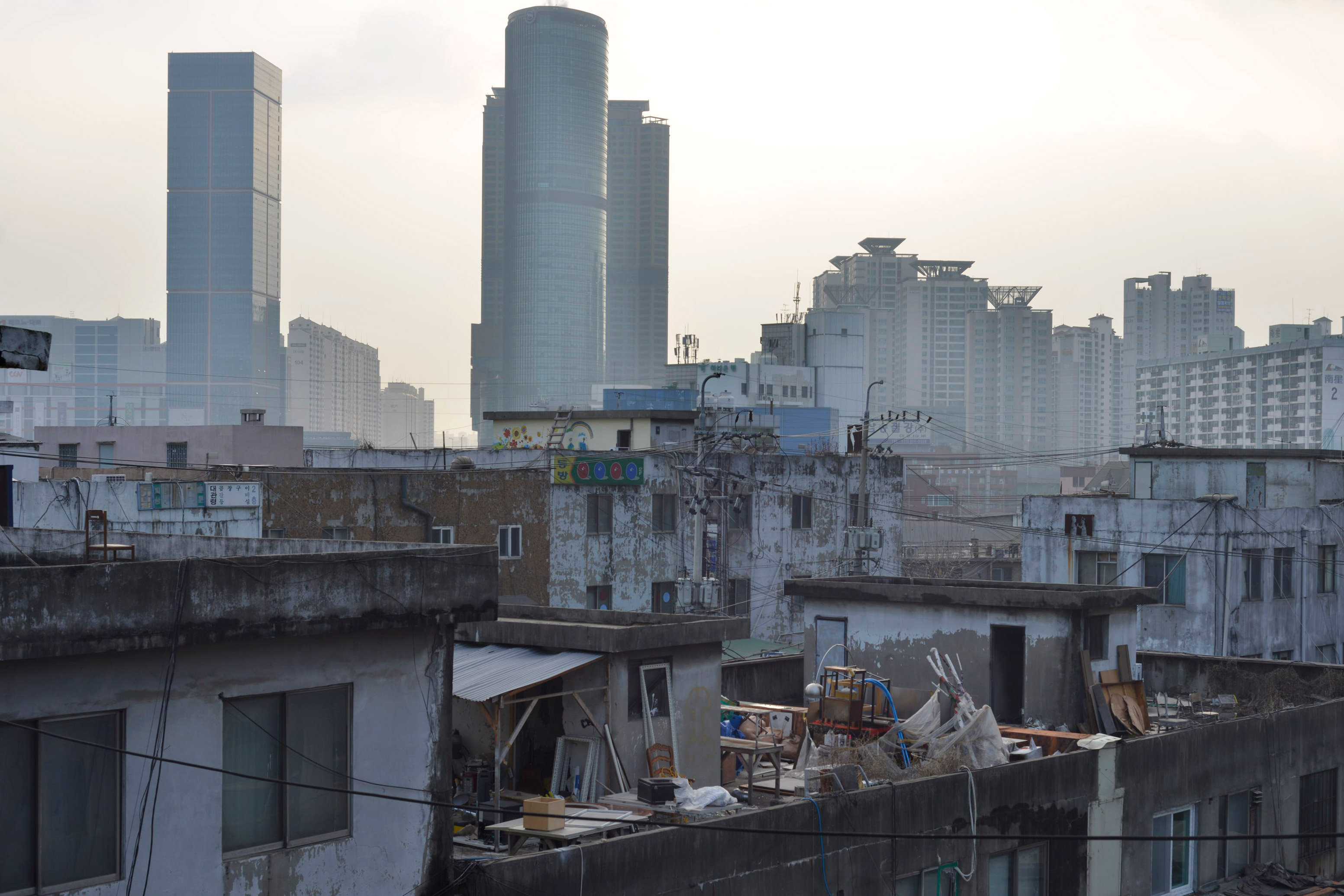 Photo about art project in mullae-dong in Seoul and interactive city documentary