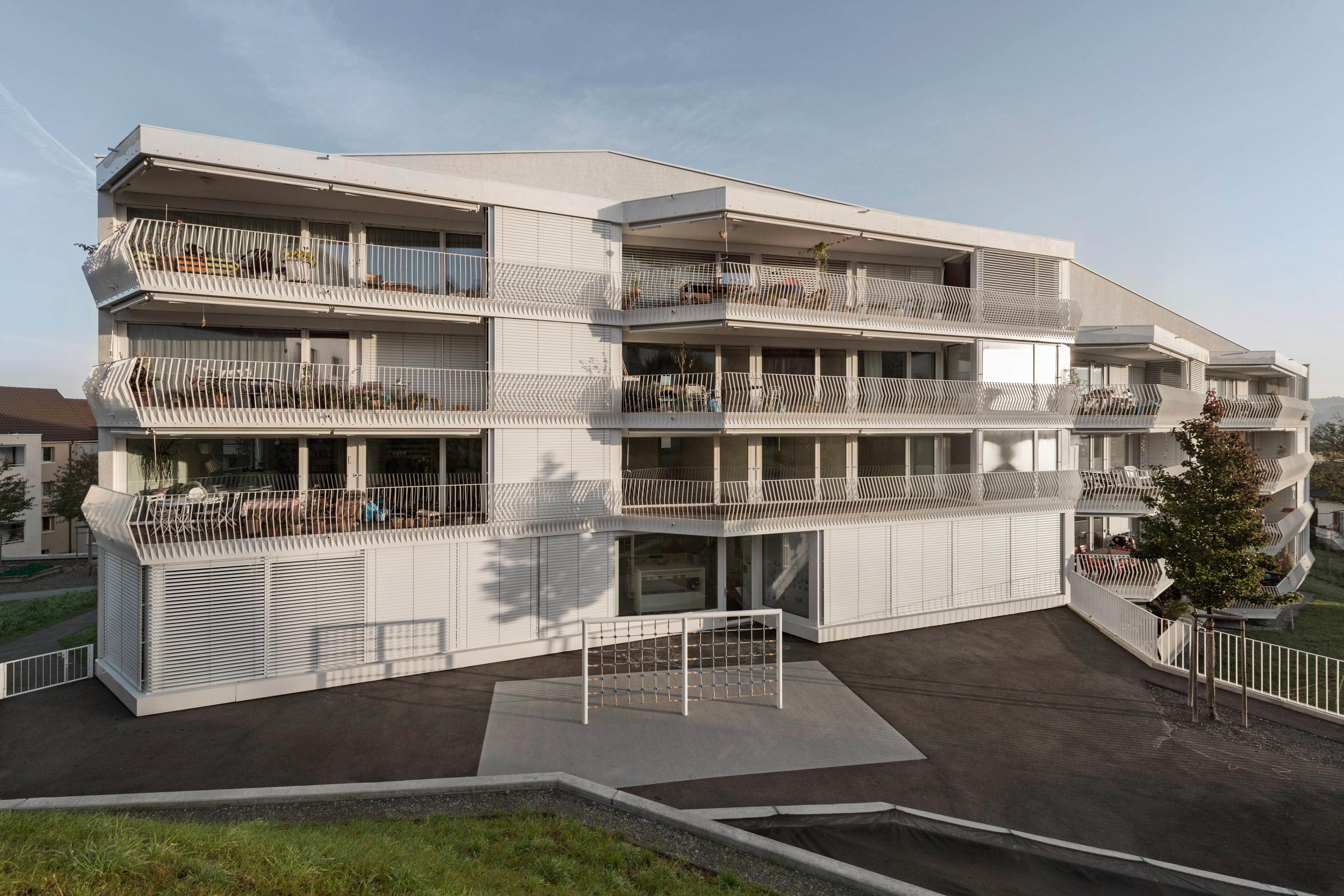 Architecture photo about EBG apartments Geissenstein Luzern