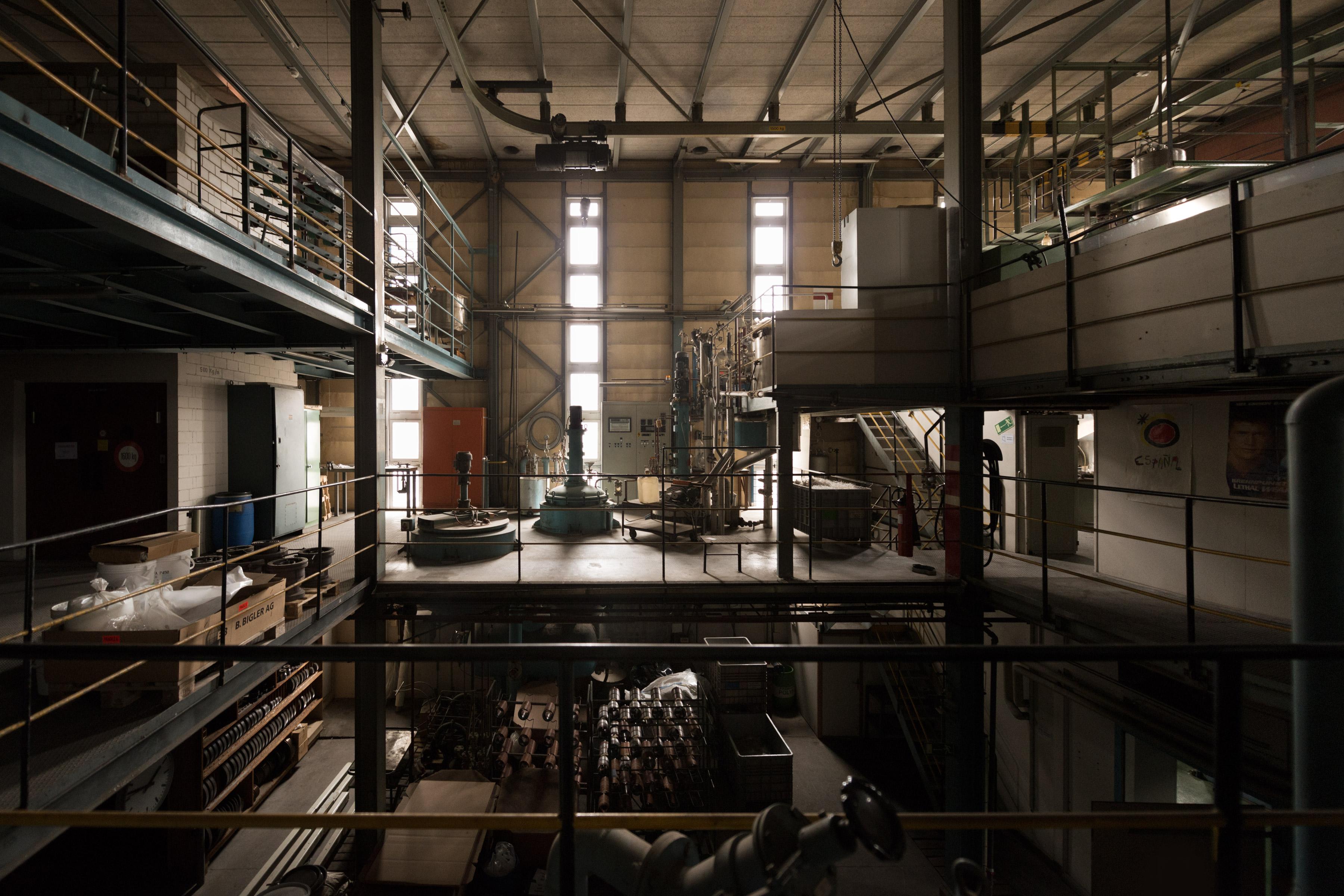 Photo about industrial architecture at Monosuisse in Emmenbrücke Luzern