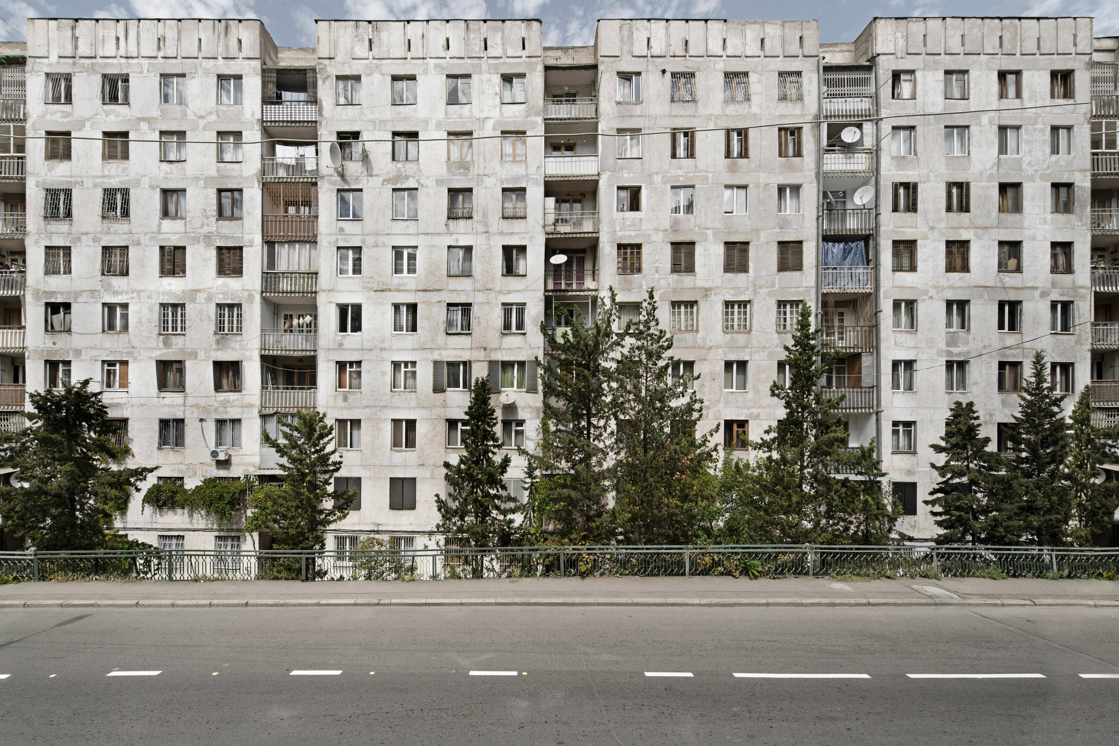 Architecture photo about socialist Soviet architecture in Southern Russia Crimea and Georgia