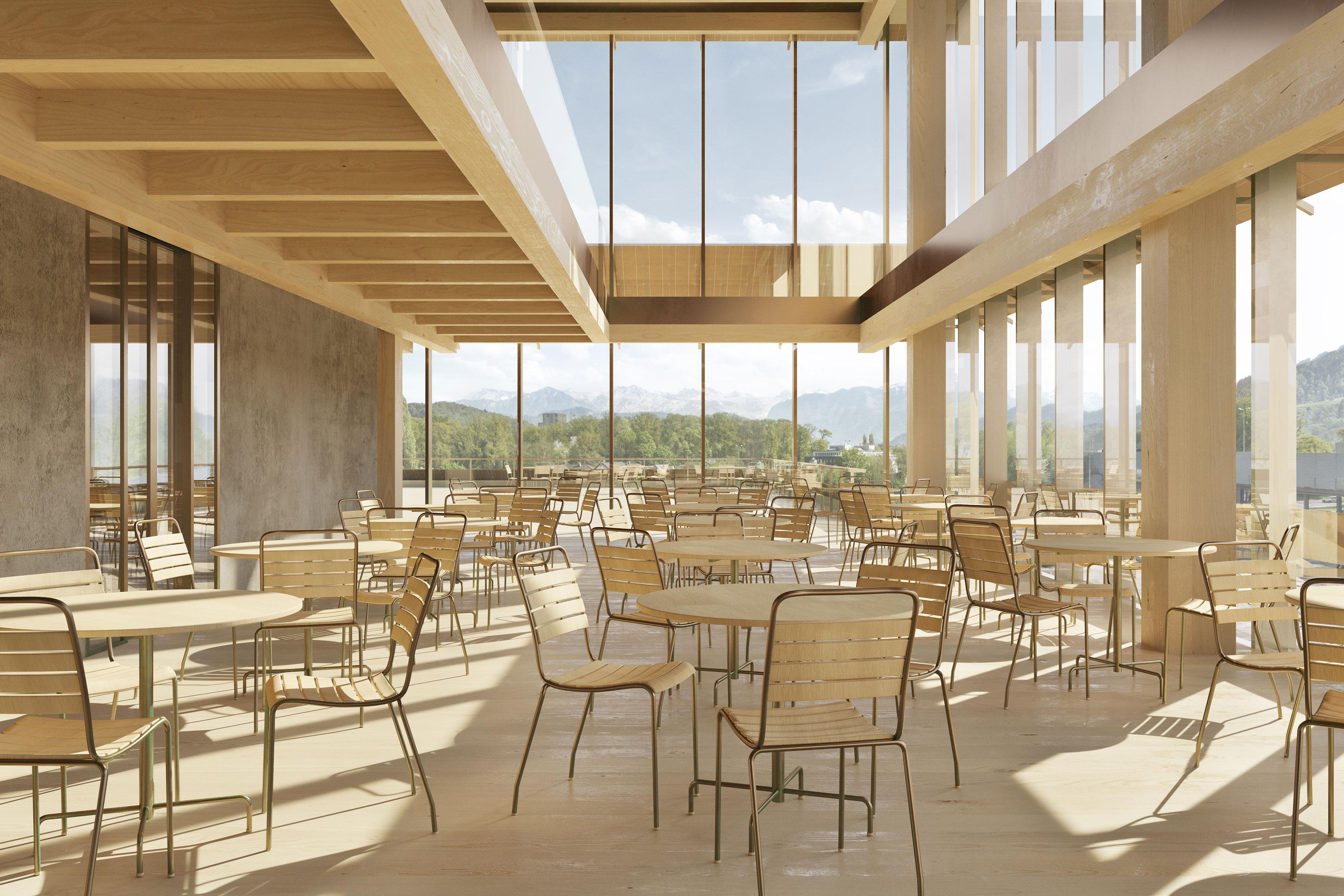 Neubau Sozialversicherungszentrum WAS Wirtschaft Arbeit Soziales Luzern Wettbewerb 2020 Marques Architekten AG