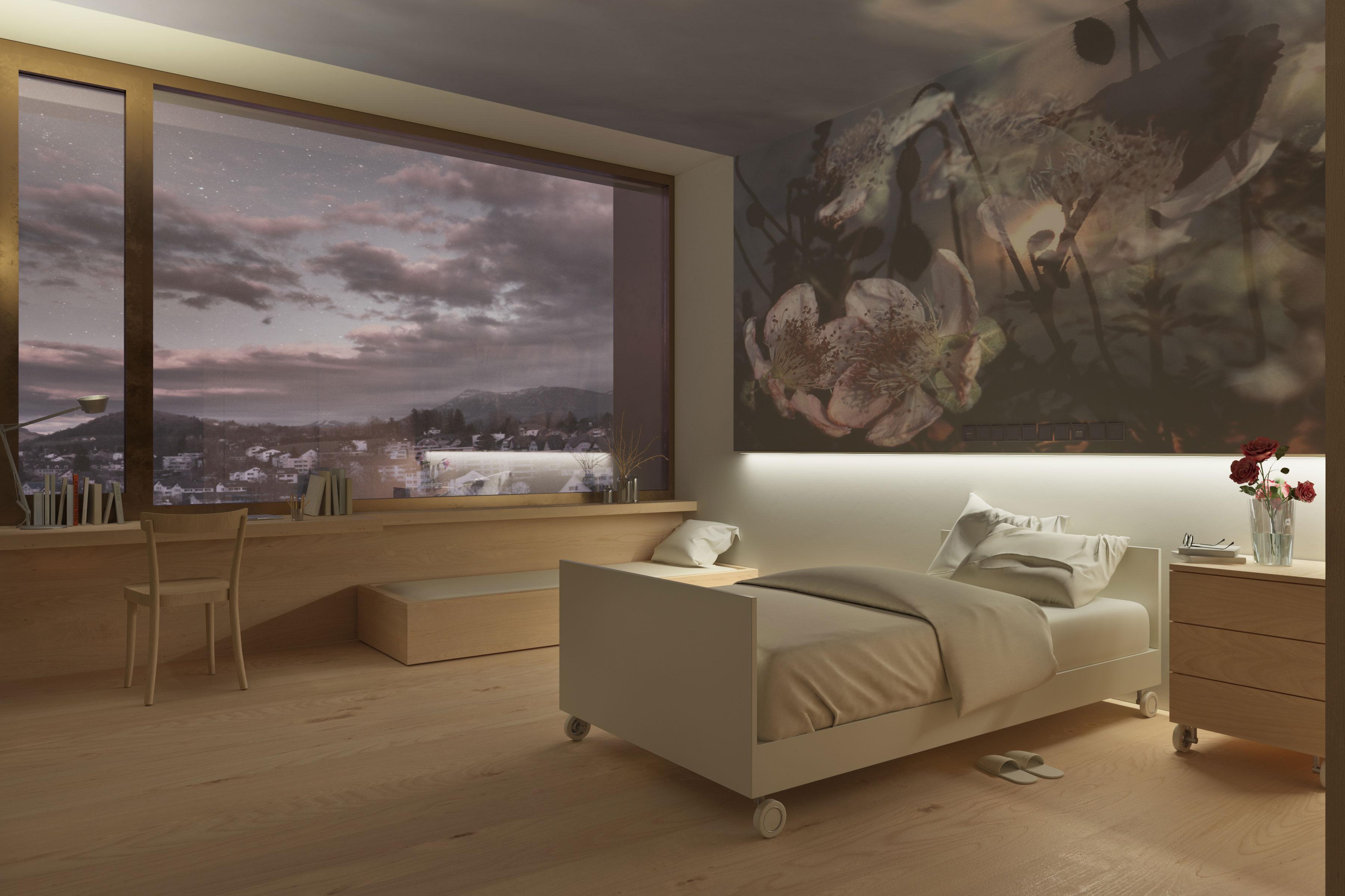 Neubau Kinderspital und Frauenklinik Kantonsspital Luzern | Wettbewerb Marques Architekten 2020 | Visualisierung Dario Lanfranconi